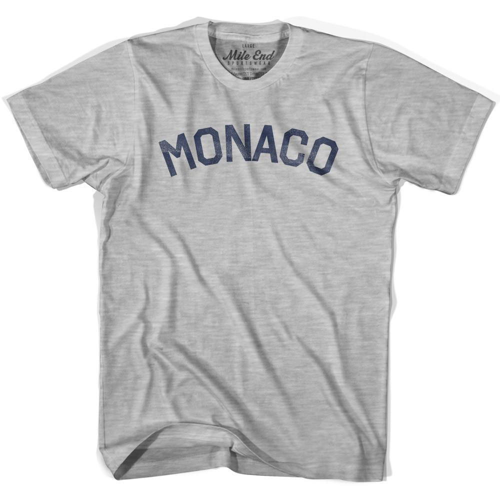 Monaco City Vintage T-shirt in Grey Heather by Mile End Sportswear