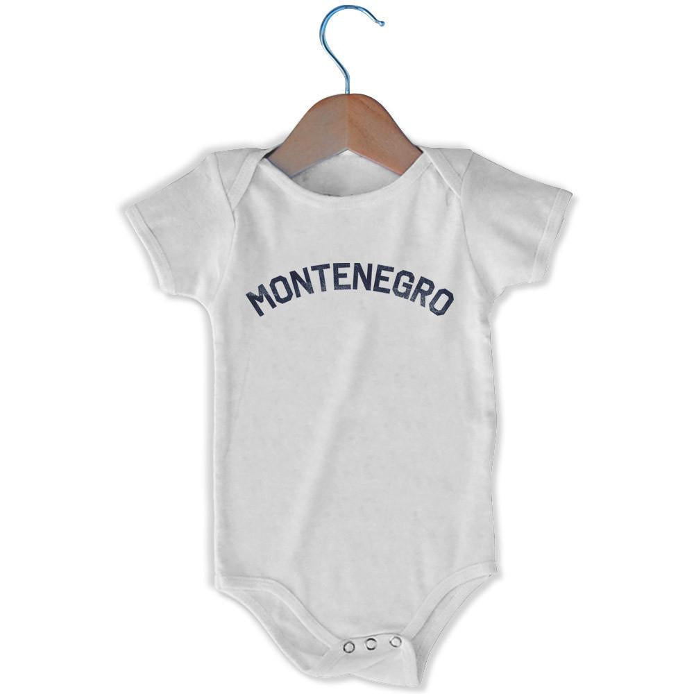 Montenegro City Infant Onesie in White by Mile End Sportswear