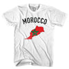 Morocco Flag & Country T-shirt in White by Neutral FC
