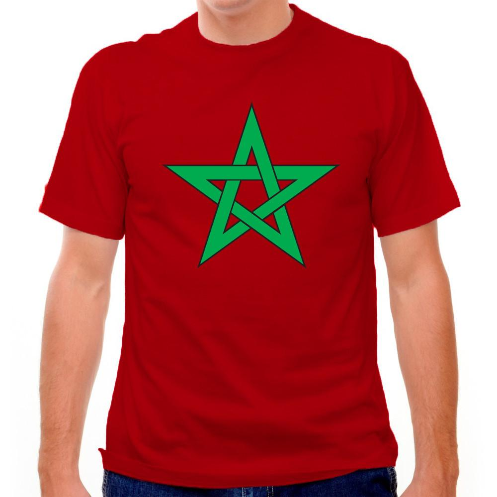 Moroccan Flag Soccer T-shirt in Cranberry by Neutral FC