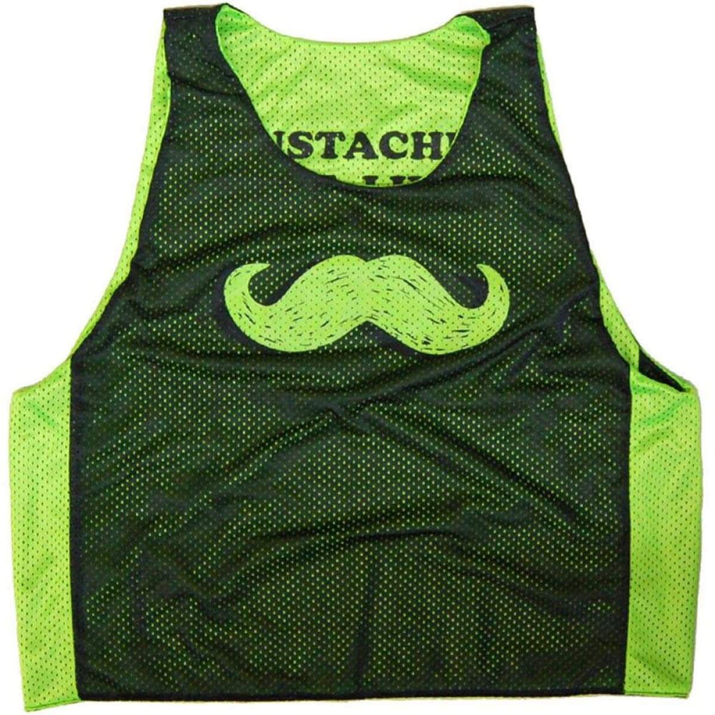 Mustaches Save Lives Lacrosse Pinnie - Graphic Mesh Lacrosse Pinnies