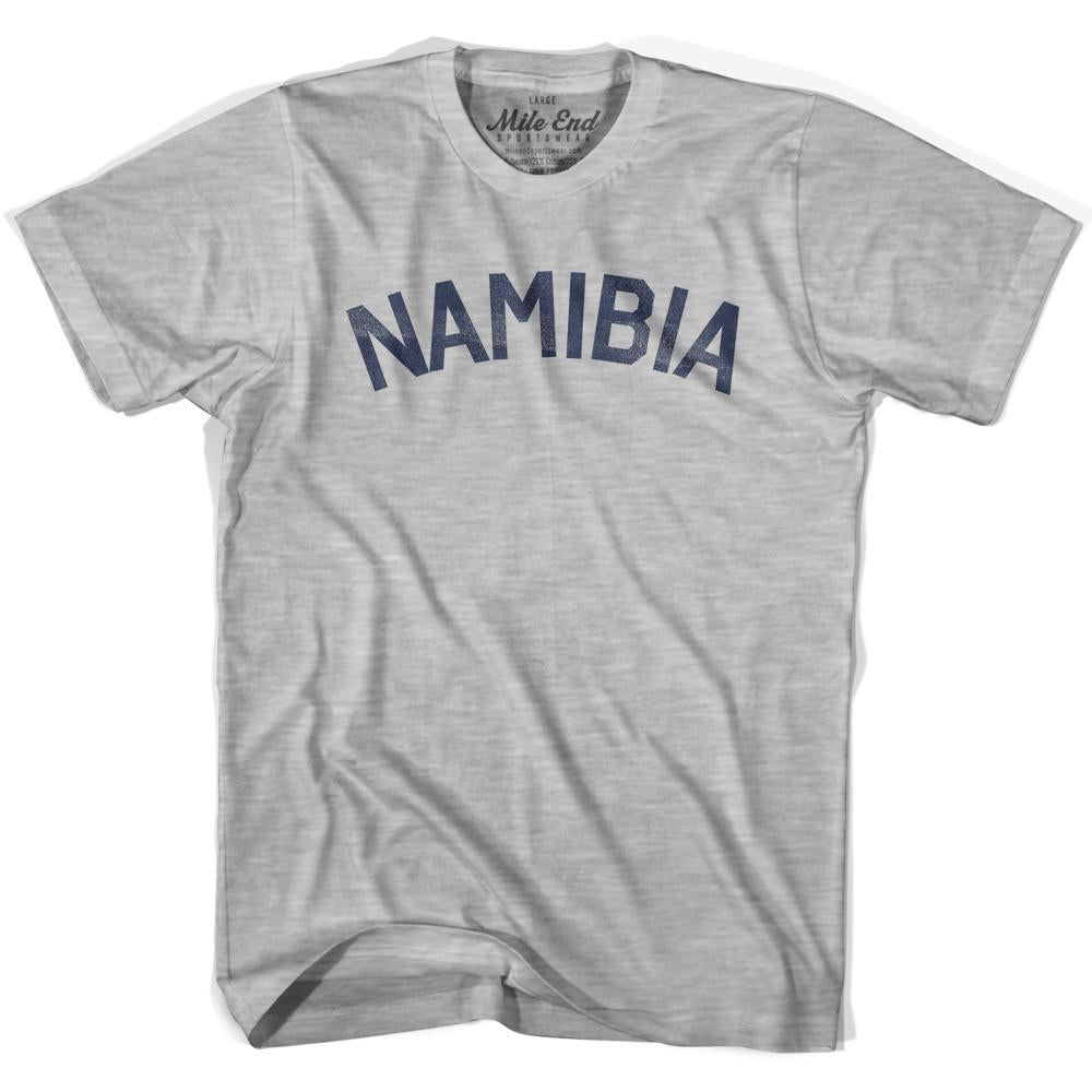 Namibia City Vintage T-shirt in Grey Heather by Mile End Sportswear