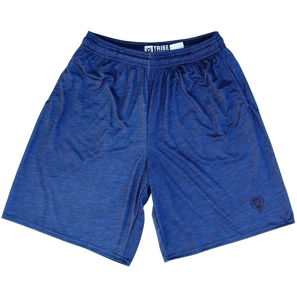 Navy Heather Lacrosse Shorts in Navy by Tribe Lacrosse