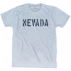 Nevada State Stencil Adult Tri-Blend T-shirt by Ultras