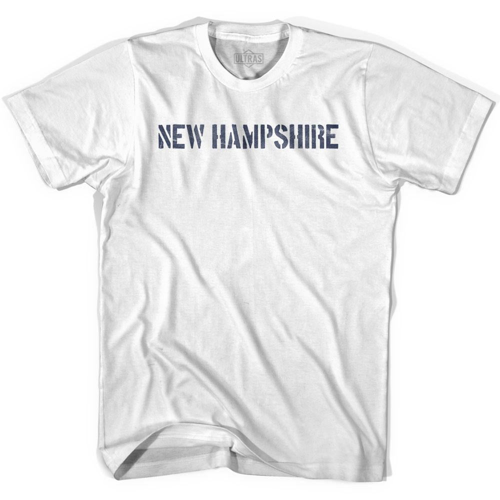 New Hampshire State Stencil Womens Cotton T-shirt by Ultras