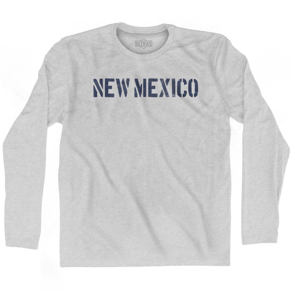 New Mexico State Stencil Adult Cotton Long Sleeve T-shirt by Ultras