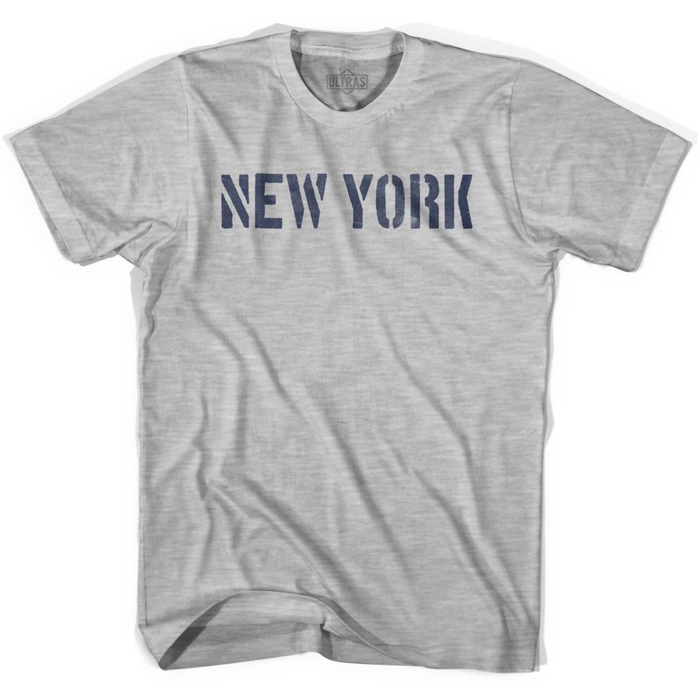 New York State Stencil Womens Cotton T-shirt by Ultras