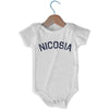 Nicosia City Infant Onesie in White by Mile End Sportswear