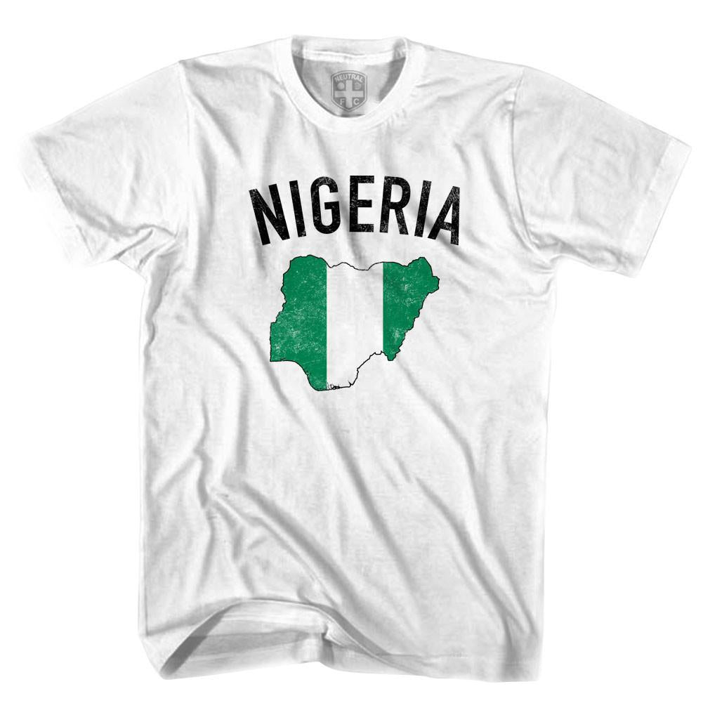 Nigeria Flag & Country T-shirt in White by Neutral FC