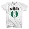 Nigeria Soccer Ball T-shirt in White by Neutral FC
