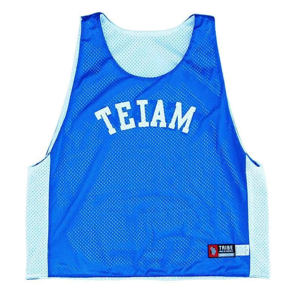 No I In Team Lacrosse Pinnie - Royal / Youth Large - Graphic Mesh Lacrosse Pinnies