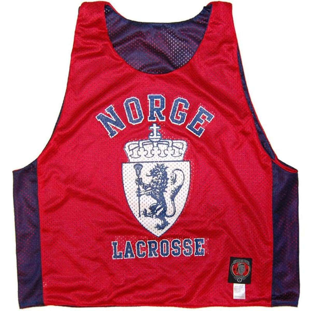 Norge Norway Lacrosse Sublimated Reversible Lax Pinnie - Graphic Mesh Lacrosse Pinnies