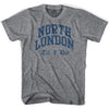 Spurs North London Till I Die (blue) T-Shirt in Grey Heather by Neutral FC