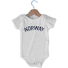 Norway City Infant Onesie in White by Mile End Sportswear