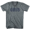 Ohio State Stencil Adult Tri-Blend V-neck T-shirt by Ultras