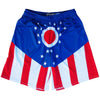 Ohio Flag Lacrosse Shorts in Red White and Blue by Tribe Lacrosse