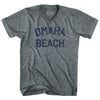Omaha Beach Adult Tri-Blend V-Neck T-Shirt