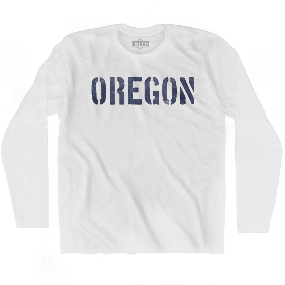 Oregon State Stencil Adult Cotton Long Sleeve T-shirt by Ultras