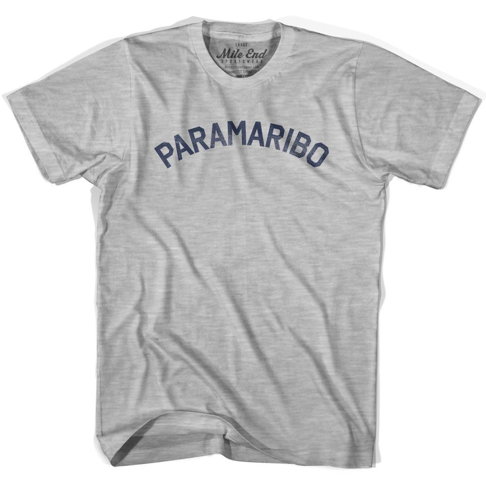 Paramaribo City Vintage T-shirt in Grey Heather by Mile End Sportswear