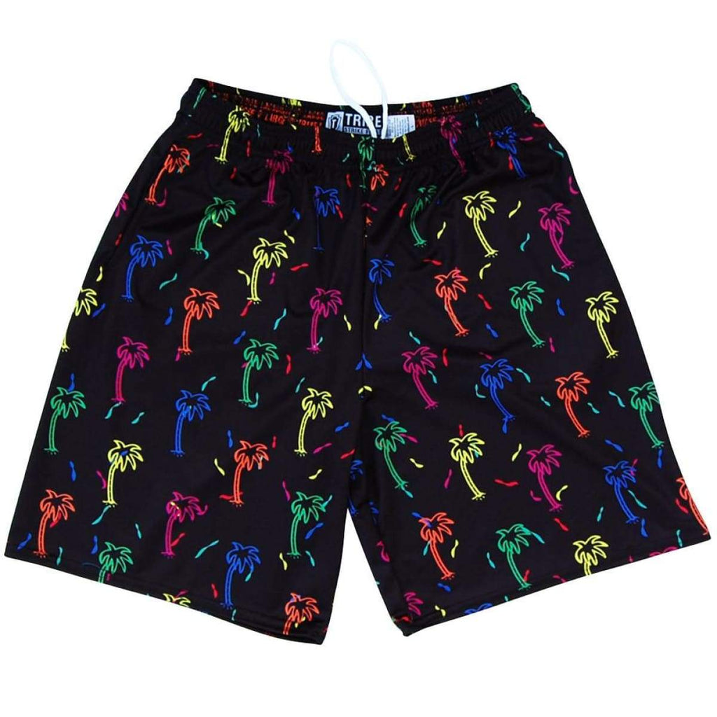 Party Palms Lacrosse Shorts - Black / Youth X-Small - Tribe Lacrosse Shorts