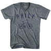 Philadelphia Philly Vintage Bike V-neck T-shirt by Ultras