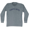 Porto Novo City Vintage Long Sleeve T-shirt in Athletic Grey by Mile End Sportswear