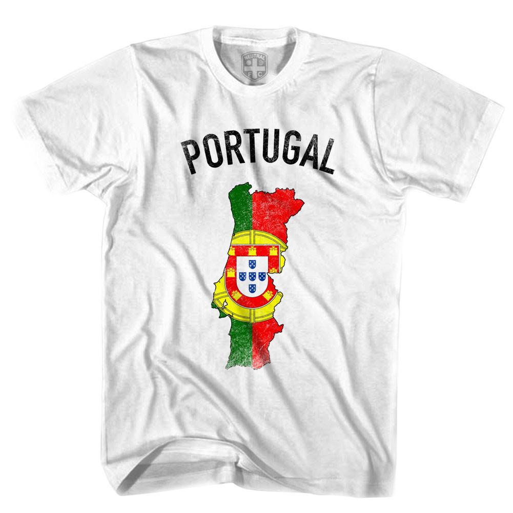 Portugal Flag & Country T-shirt in White by Neutral FC