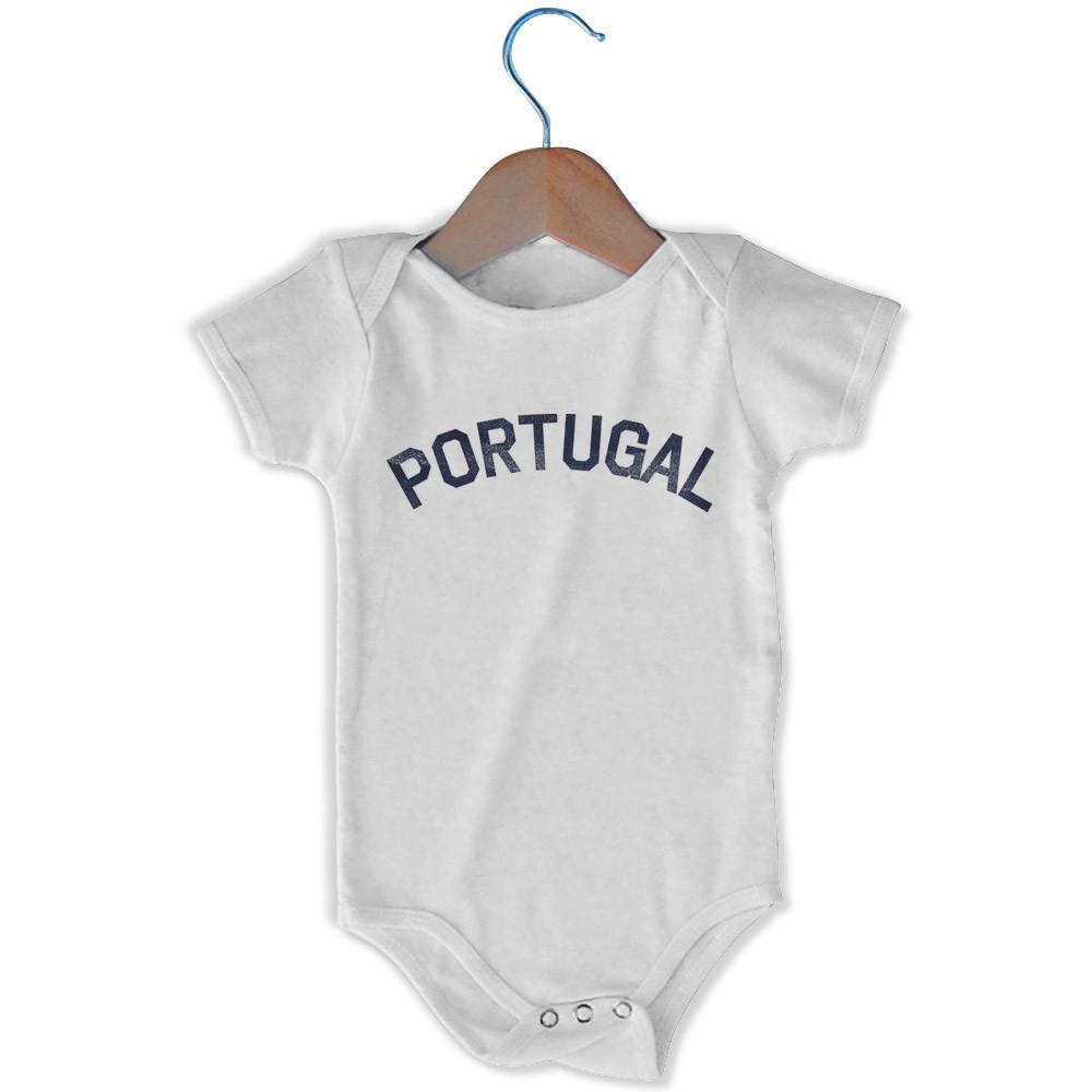 Portugal City Infant Onesie in White by Mile End Sportswear