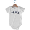 Praha City Infant Onesie in White by Mile End Sportswear