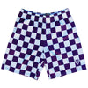 Purple and White Checkerboard Lacrosse Shorts by Tribe Lacrosse