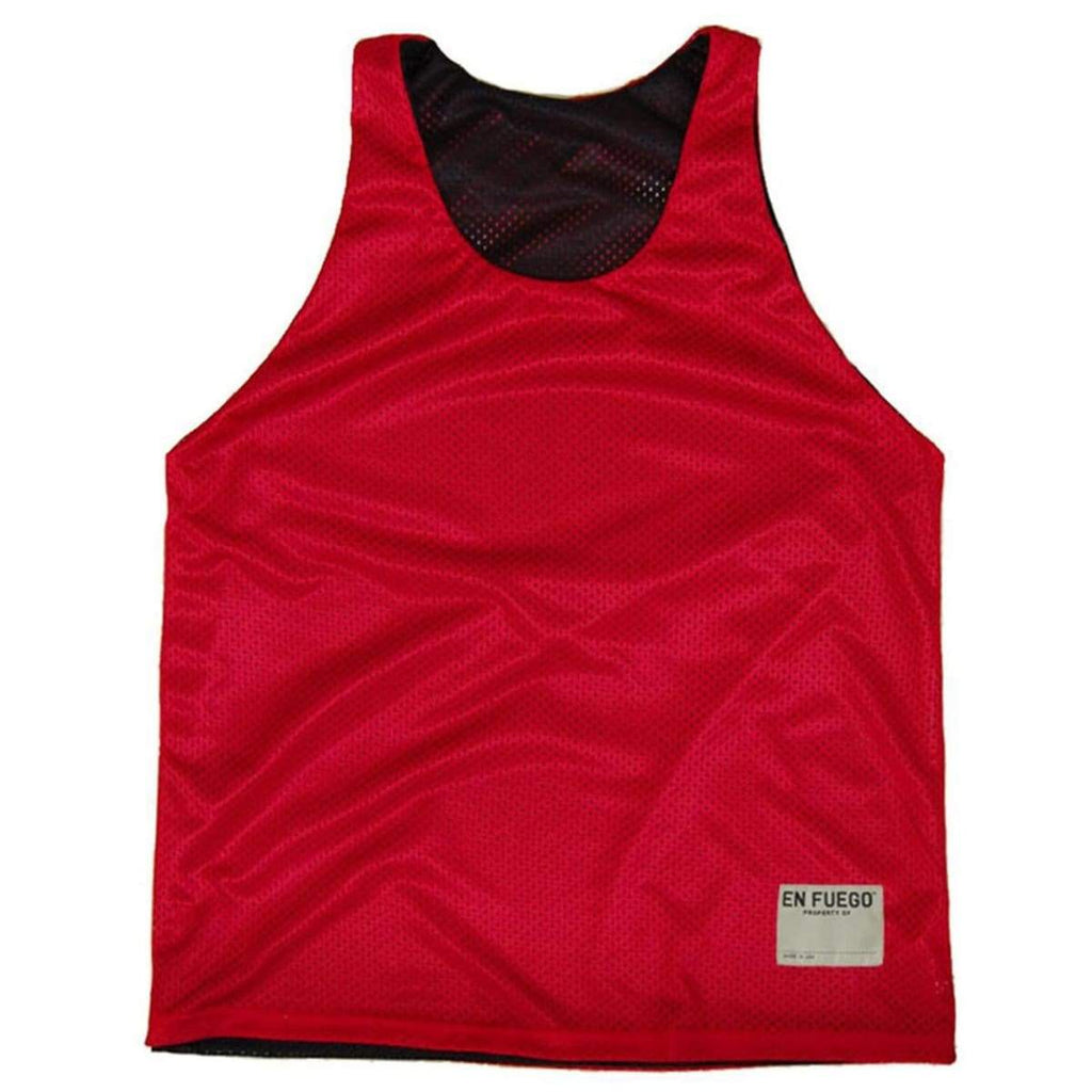 Red and Black Basketball Reversible - Red/Black / Adult Small - Basketball Reversible Pinnie