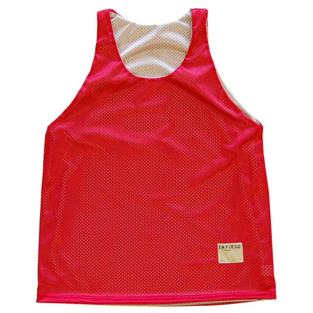 Red and Silver Basketball Reversible - Red/Silver / Adult Small - Basketball Reversible Pinnie