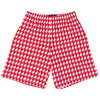 Red and White Houndstooth Lacrosse Shorts in Red and White by Tribe Lacrosse