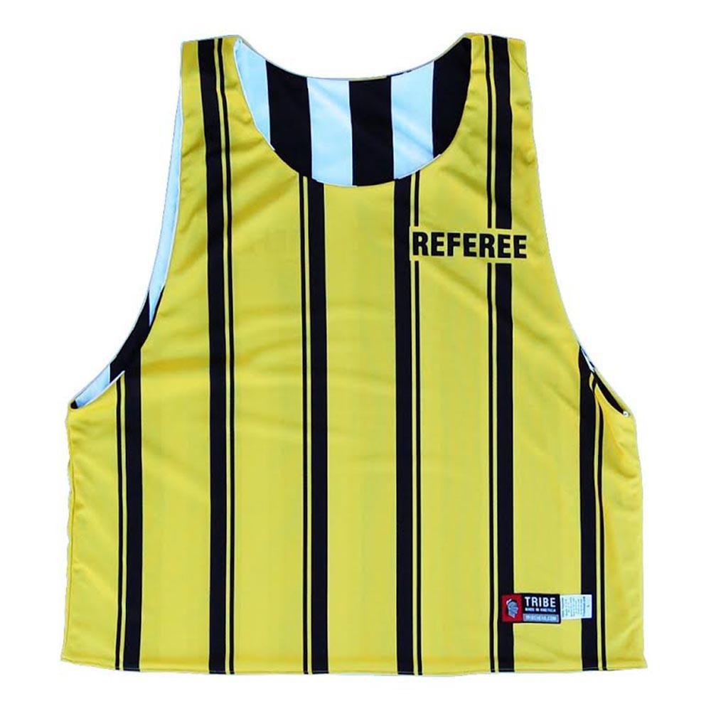 Referee and Official Sublimated Reversible Lacrosse Pinnie in Black & White by Tribe Lacrosse