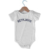 Reykjavik City Infant Onesie in White by Mile End Sportswear