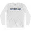Rhode State Stencil Adult Cotton Long Sleeve T-shirt by Ultras