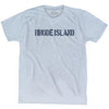 Rhode State Stencil Adult Tri-Blend T-shirt by Ultras