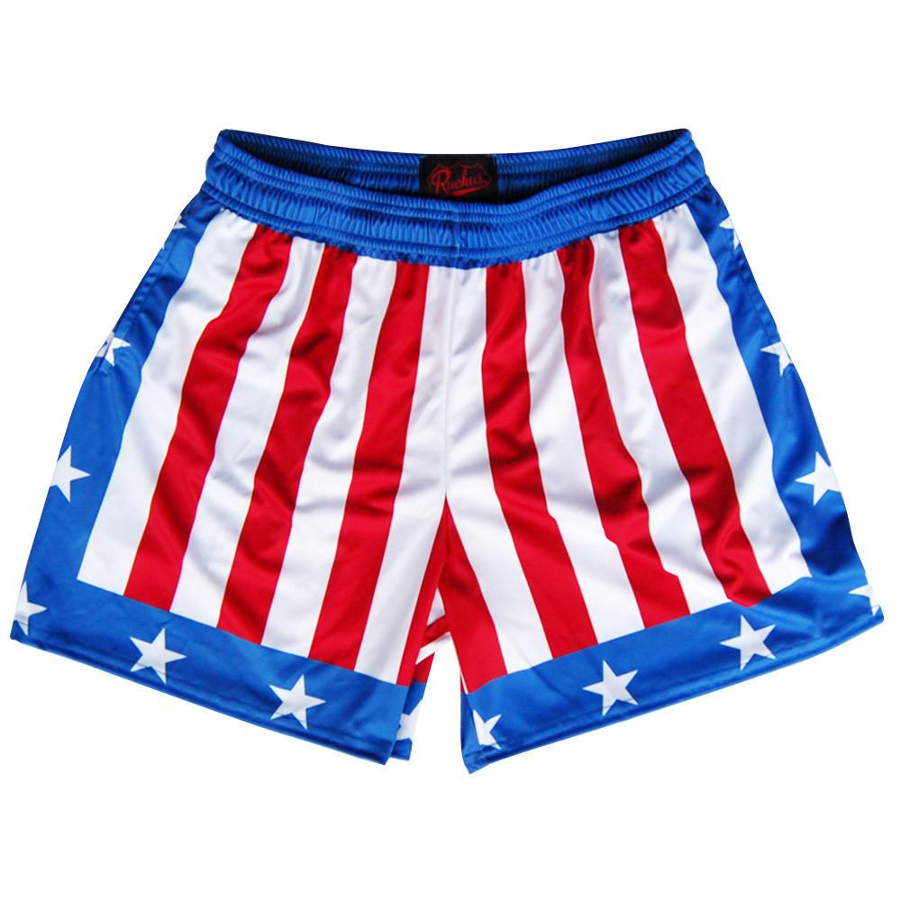 The Champ Rugby Shorts in Red White & Blue by Ruckus Rugby