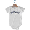 Romania City Infant Onesie in White by Mile End Sportswear