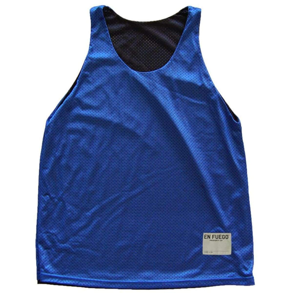 Royal and Black Basketball Reversible - Royal/Black / Adult Small - Basketball Reversible Pinnie