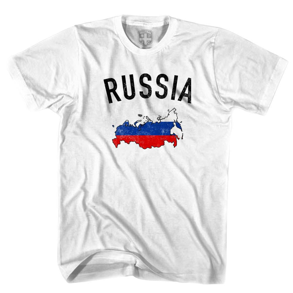 Russia Flag & Country T-shirt in White by Neutral FC
