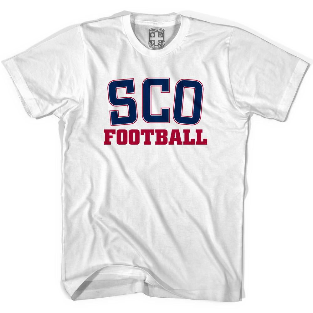 Scotland SCO Soccer T-shirt in White by Neutral FC