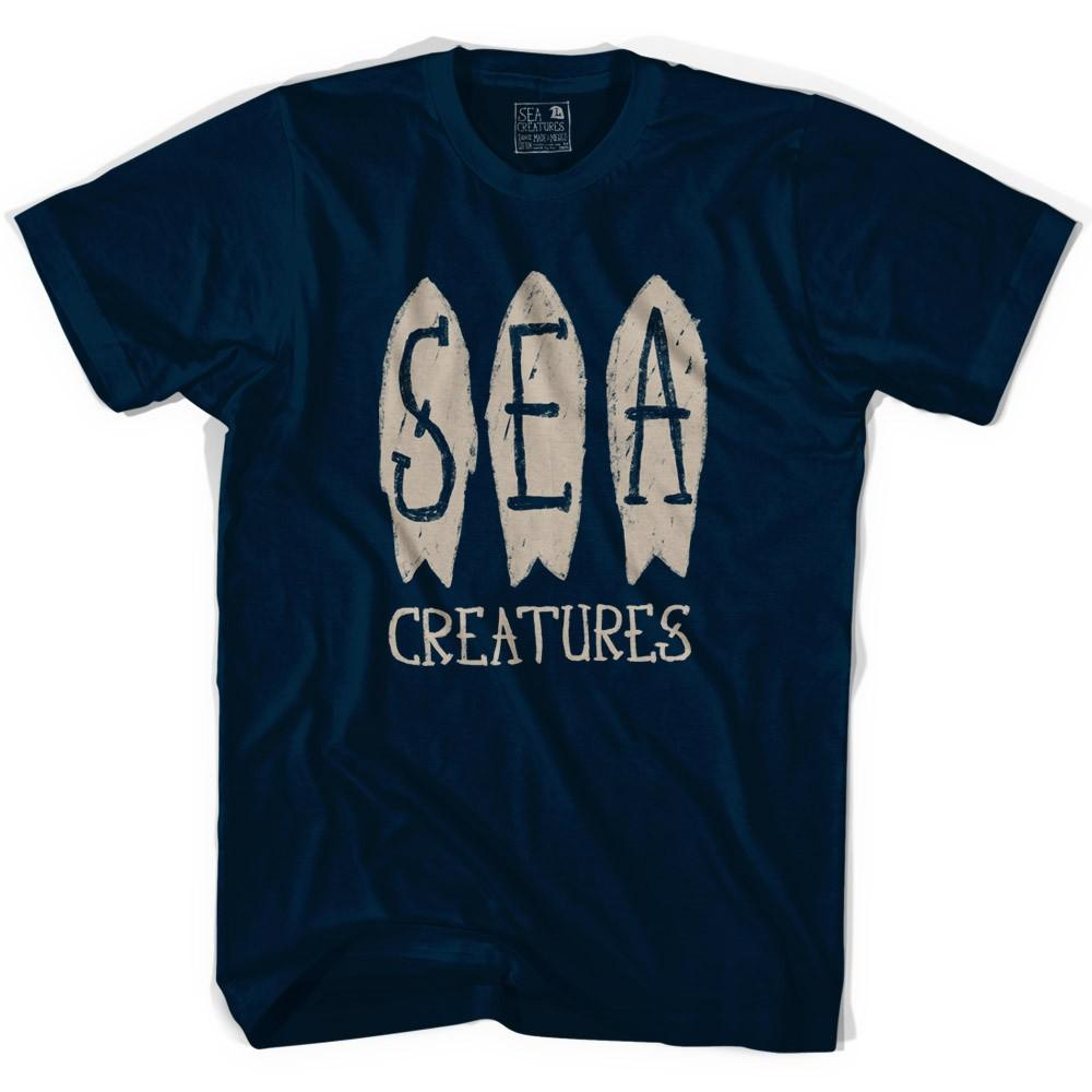 Life On the Strand Three Fish T-shirt in Navy by Life On the Strand