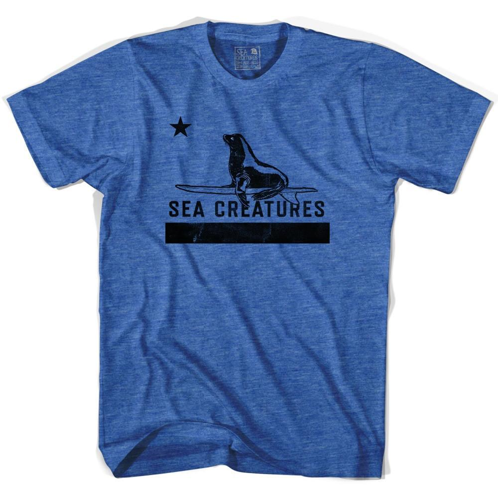 Life On the Strand Republic T-shirt in Heather Blue by Life On the Strand