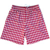 Seminoles Houndstooth Lacrosse Shorts in Maroon & Gold by Tribe Lacrosse