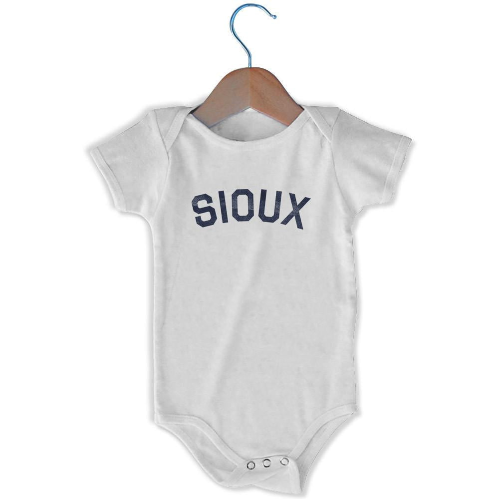 Sioux City Infant Onesie in White by Mile End Sportswear