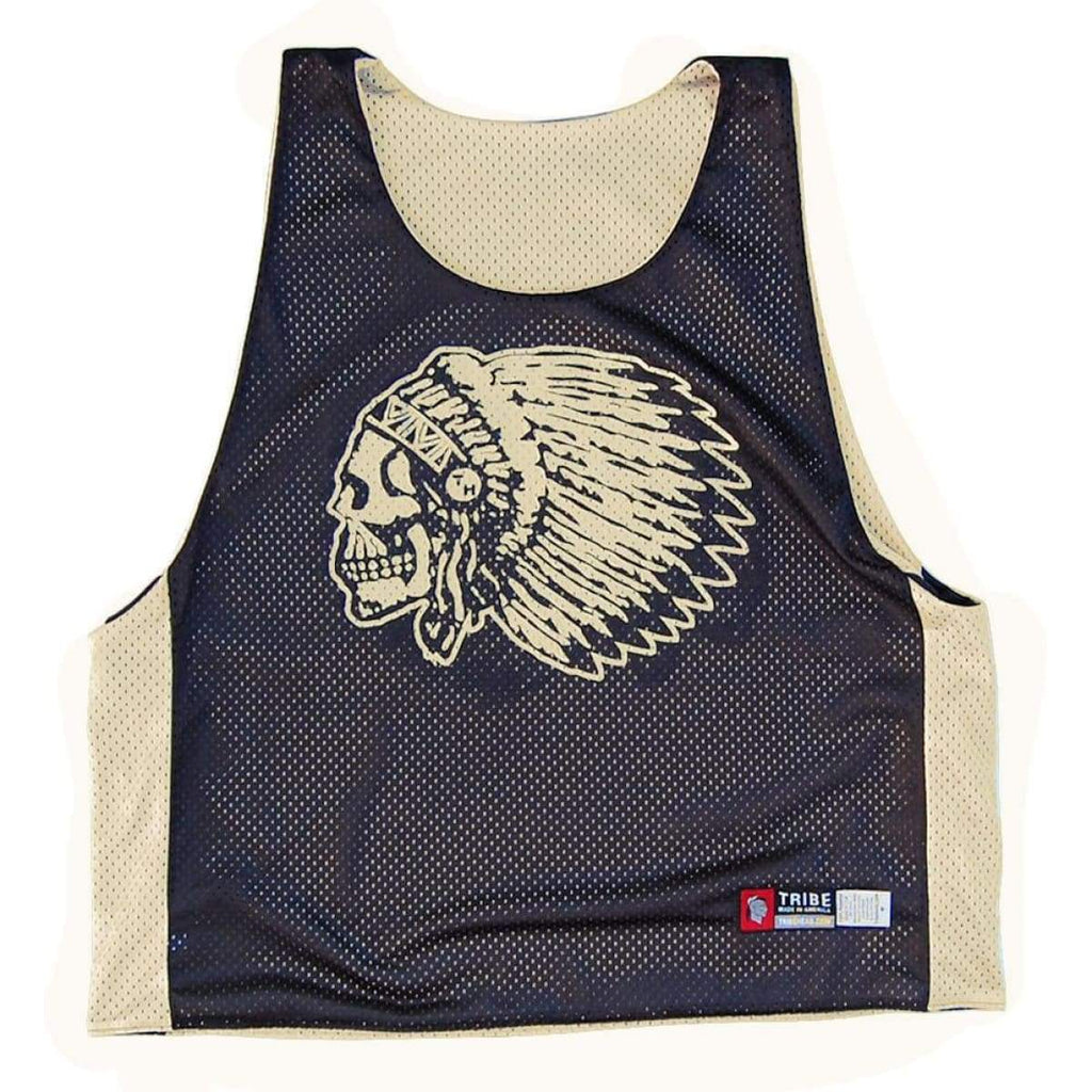 Skull Headress Lacrosse Pinnie - Graphic Mesh Lacrosse Pinnies