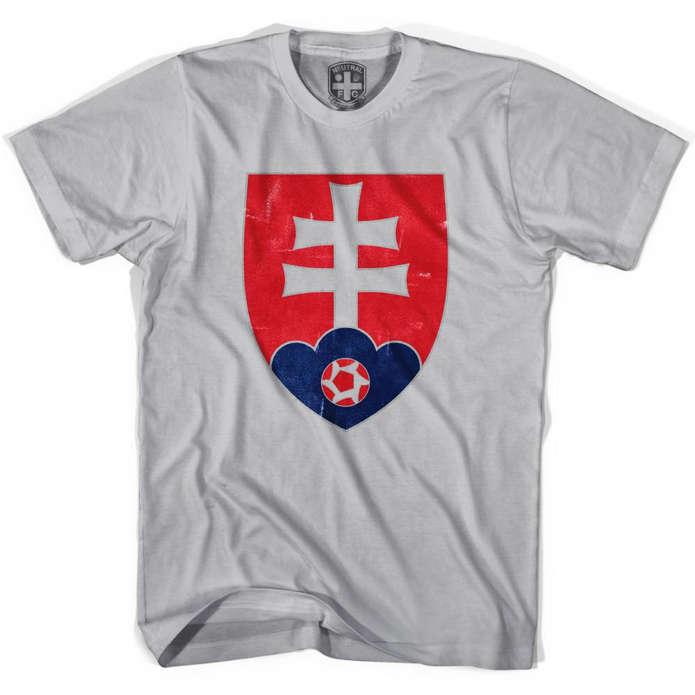 Slovakia Crest T-shirt in Cool Grey by Neutral FC