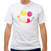 Soccer Ball Smiley Face T-shirt in White by Neutral FC