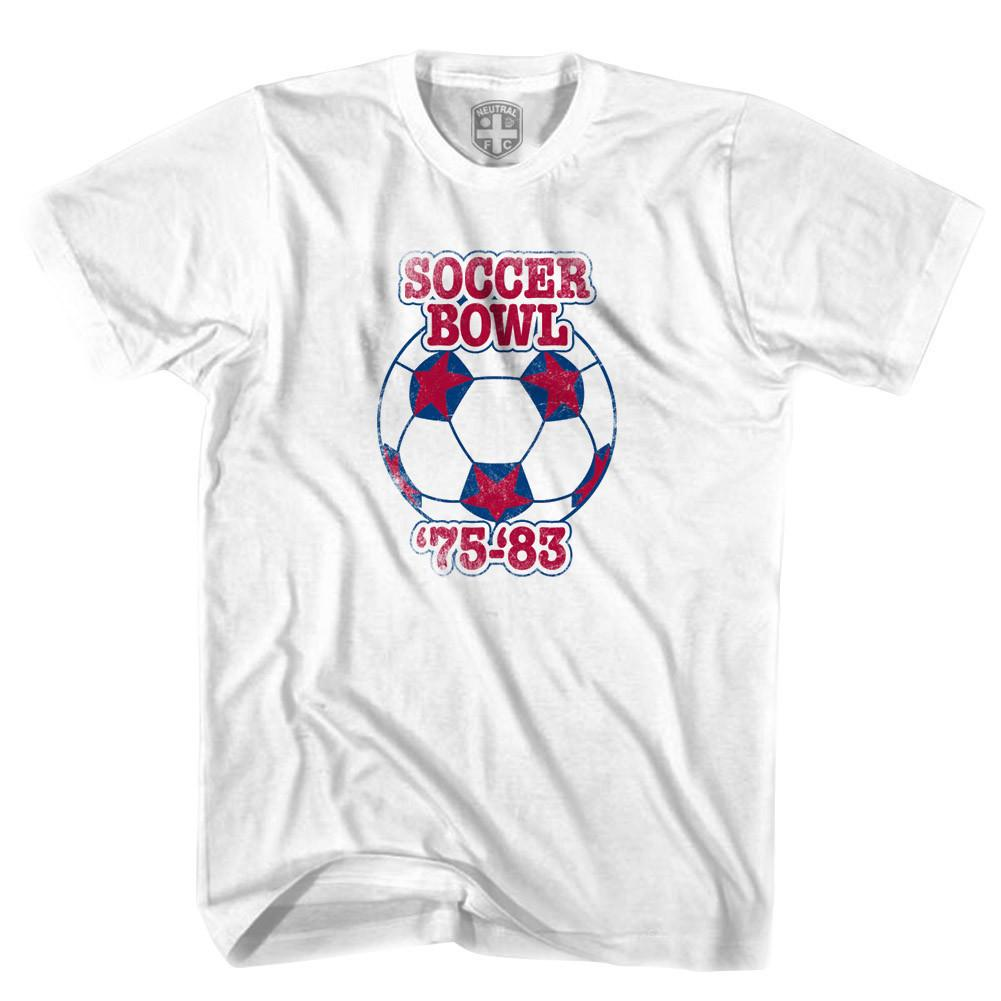 Soccer Bowl North American Soccer T-shirt in White by Neutral FC